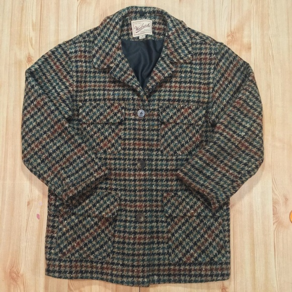 f8c7a39e5 Woolrich Houndstooth Wool Button Coat USA